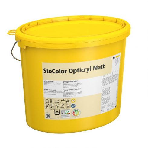 Beltér, Festékek, StoColor Opticryl Matt, matt beltéri akril festék, 15 l,fehér, 00024-001