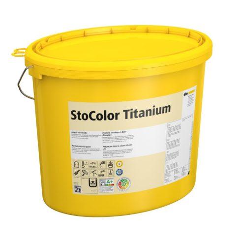 Beltér, Festékek, StoColor Titanium, tompamatt beltéri festék, 15 l, fehér, 00097-002