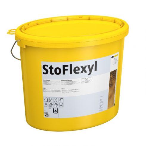 Homlokzat, Hőszigetelő rendszerek, Ragasztók, hálóágyazó anyagok, StoFlexyl, ragasztóhabarcs, 18 kg,