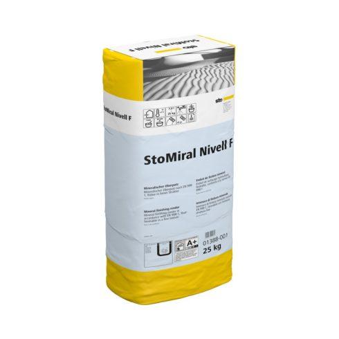 Beltér, Vékonyvakolatok, StoMiral® Nivell F, bel-és kültéri fedővakolat, 25 kg, fehér, 01388-001