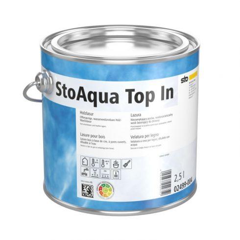 Lakk, lazúr, Lakkok, StoAqua Top In, vízzel higítható lakk, 2,5 l, többféle színben, 02499-004