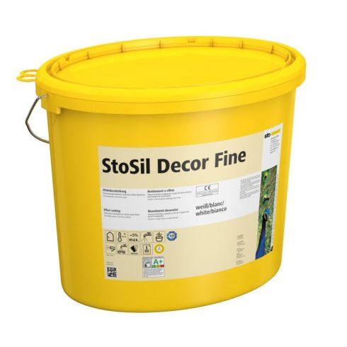 Beltér, Effektek és struktúrbevonatok, StoSil Decor Fine 1 mm, díszítő struktúrbevonat, 21 kg, fehér