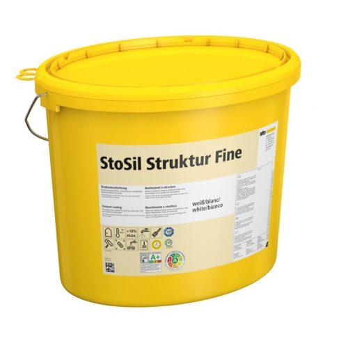 Beltér, Effektek és struktúrbevonatok, StoSil Struktur Fine, szilikát bázisú festék, 20 kg, fehér, 0
