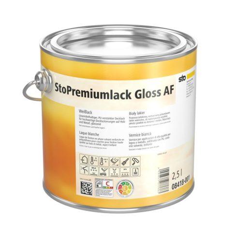 Lakk, lazúr, Lakkok, StoPremiumlack Gloss AF, magasfényű lakk, 1 l, fehér, 08418-009