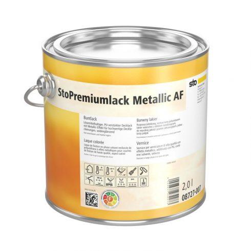 Lakk, lazúr, Lakkok, StoPremiumlack Metallic AF, fémes megjelenésű fedőlakk, 0,75 l, többféle színbe