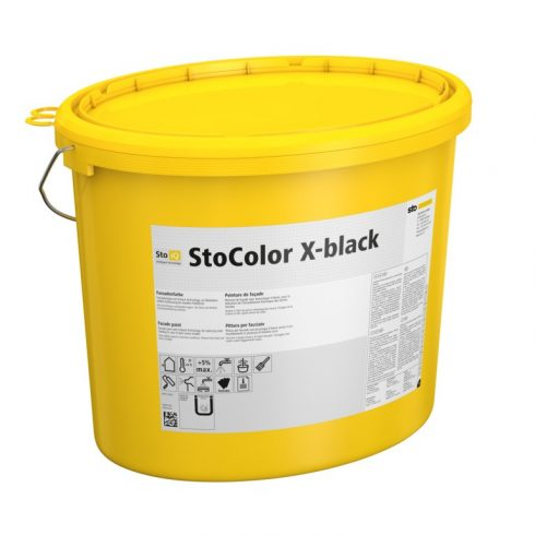 Homlokzat, Homlokzatfestékek, StoColor X-black, speciális homlokzatfesték, 15 l, színezett (matt) ,