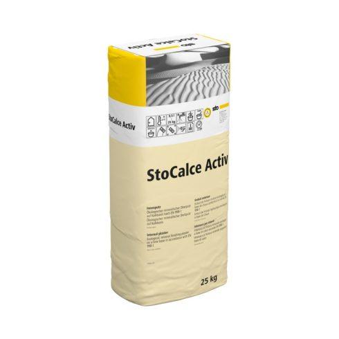 Beltér, Vékonyvakolatok, StoCalce Activ K, beltéri fedővakolat, 25 kg, fehér, 09218-003