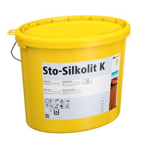 Homlokzat, Hőszigetelő rendszerek, Vékonyvakolatok, Sto-Silkolit K homlokzati vékonyvakolat, 25 kg,