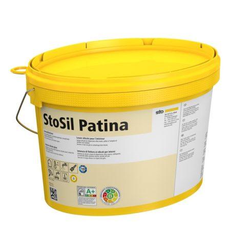 Beltér, Effektek és struktúrbevonatok, StoSil Patina, szilikátlazúr, 15 l, fehér, 15866-004