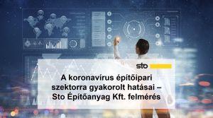 A koronavírus építőipari szektorra gyakorolt hatásai - Sto Építőanyag Kft. felmérés
